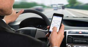 پیام دادن در حین رانندگی