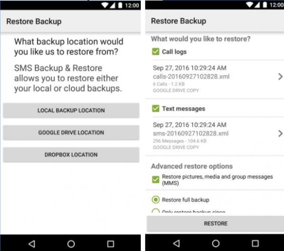 انتقال پیامهای متنی با استفاده از SMS Backup & Restore