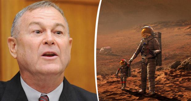 سناتور آمریکایی خطاب به ناسا: هم اکنون در مریخ انسان وجود دارد!