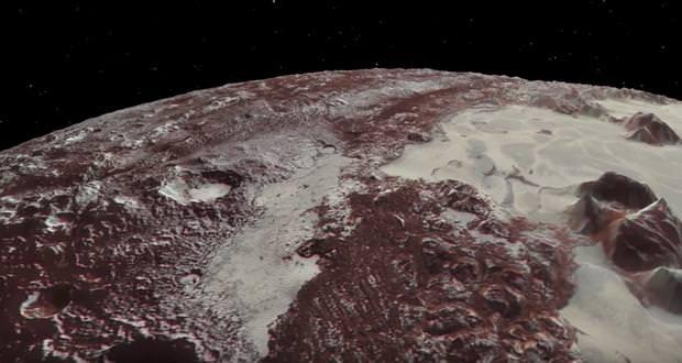 پرواز بر سطح پلوتو و قمر شارون با انیمیشنهای جدید ناسا (ویدیو)