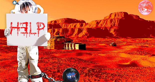 برده داری ناسا در مریخ