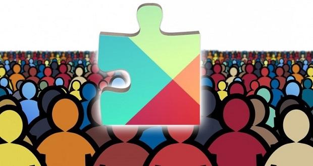 آمار نصب گوگل پلی سرویس