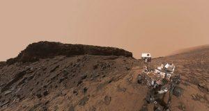حرکت سریع ابرها در آسمان سیاره مریخ
