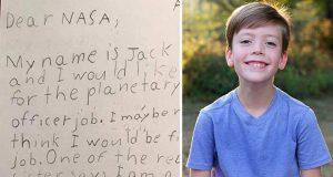 درخواست استخدام کودک 9 ساله از ناسا