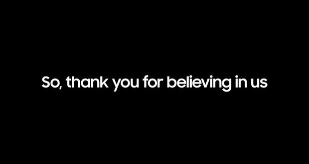 تشکر سامسونگ از کاربران