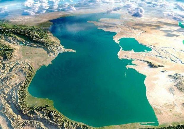 سطح آب دریای خزر