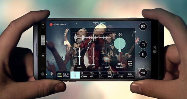 دوربین ال جی وی 30 حاوی دیافراگم عریضتر از ال جی وی 20 و ال جی جی 6
