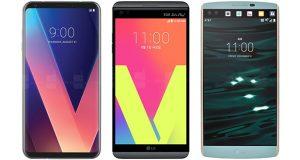 مقایسه مشخصات فنی گوشی ال جی V30