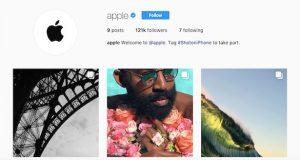 اکانت رسمی اپل در اینستاگرام