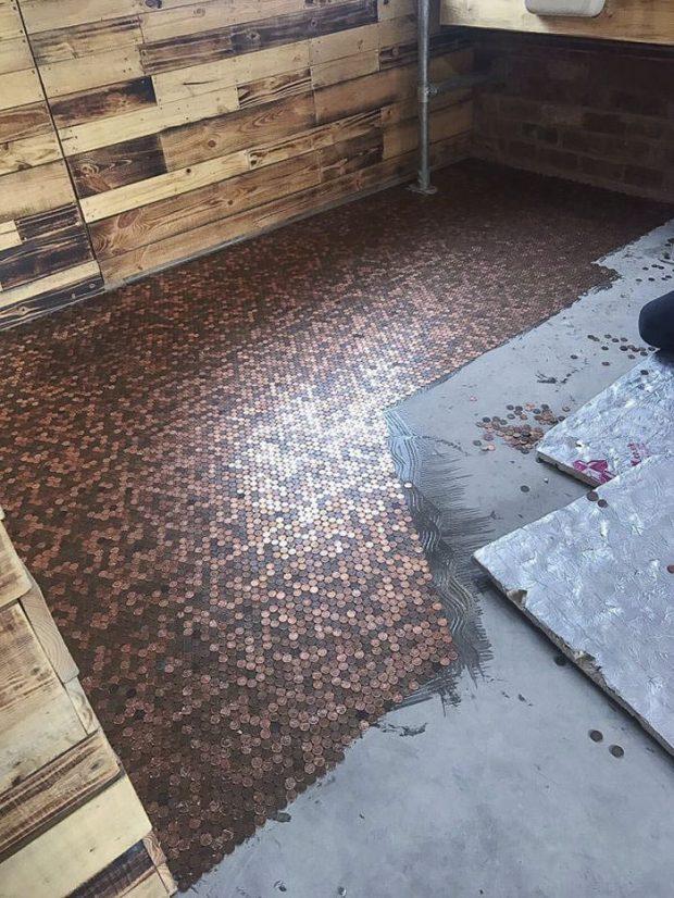 ایدهای جالب و منحصر به فرد برای پوشاندن کف آرایشگاه با 70 هزار سکه!