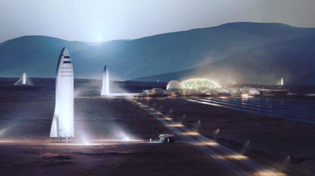 ایلان ماسک تصاویر جالبی از پایگاه ماه و شهر مریخی اسپیس ایکس را به اشتراک گذاشت