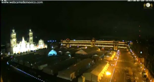 دیده شدن نورهای مرموز و عجیب در جریان وقوع زلزله مکزیک (ویدیو)