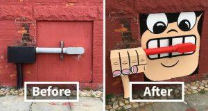 نقاشی خیابانی و زیبایی بخشیدن به بخشهای مختلف شهر در نیویورک