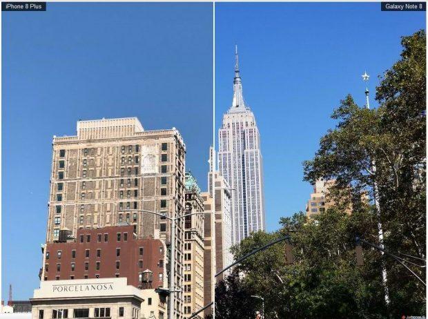 مقایسه نمونه تصاویر دوربین آیفون 8 پلاس