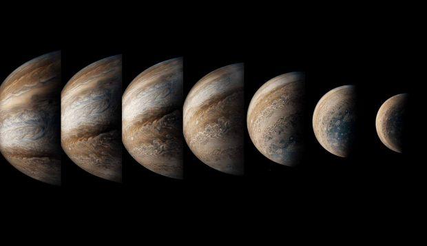 جدیدترین تصاویر سیاره مشتری ؛ شگفتی این غول گازی را از دید فضاپیمای جونو ببینید