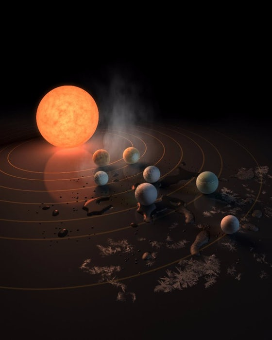 آب در سیاره های سامانه تراپیست-1