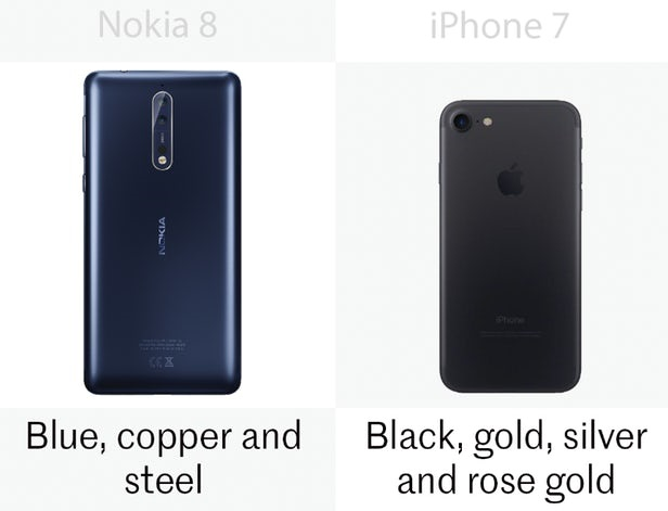مقایسه نوکیا 8 با آیفون 7