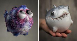 به تصویر کشیدن گونههای ساکن اعماق اقیانوس به وسیله مجسمه های فانتزی