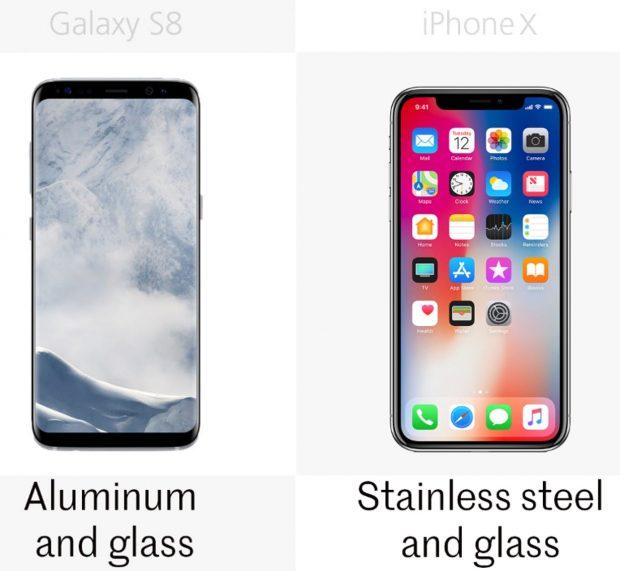 مقایسه آیفون ایکس با سامسونگ گلکسی اس 8 و گلکسی اس 8