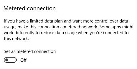 مصرف پهنای باند ویندوز 10