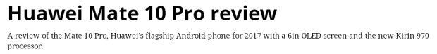 گوشی های هواوی سری میت 10