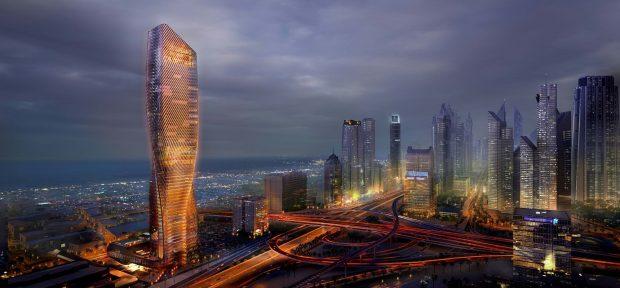 برج وصل (Wasl Tower)، آسمان خراشی فوق بلند و در حال ساخت در دبی