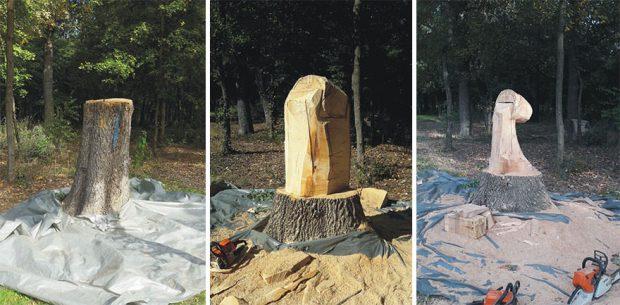 مجسمه های چوبی شگفتانگیزی که از تنه درخت ساخته شدهاند