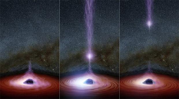 خروج شی درخشان از سیاهچاله