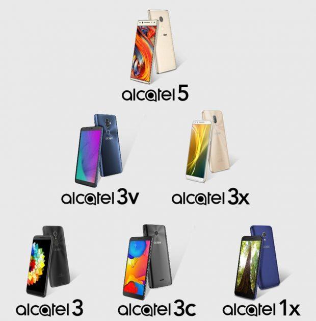 گوشی های جدید آلکاتل
