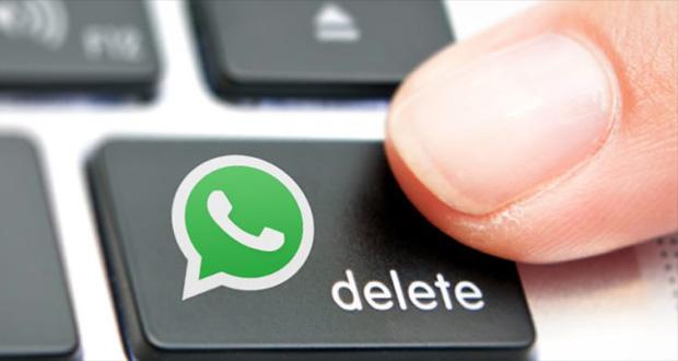 حذف پیام در واتس اپ