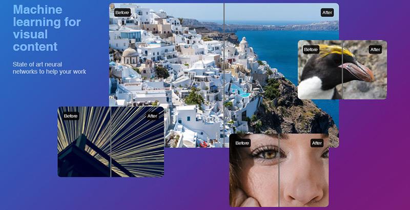 وبسایتی جهت افزایش کیفیت عکس های بی کیفیت با استفاده از هوش مصنوعی