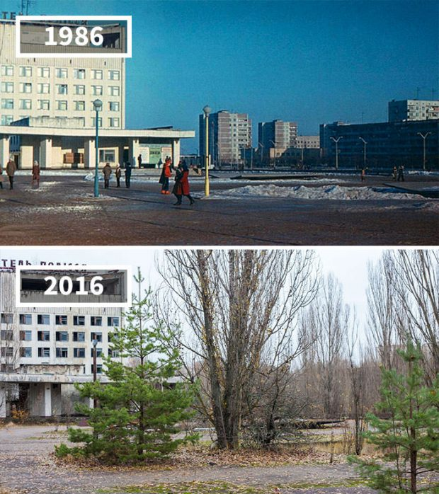 نمایش تاثیر گذر زمان در تصاویر دیدنی تهیهشده از مکان های دیدنی جهان