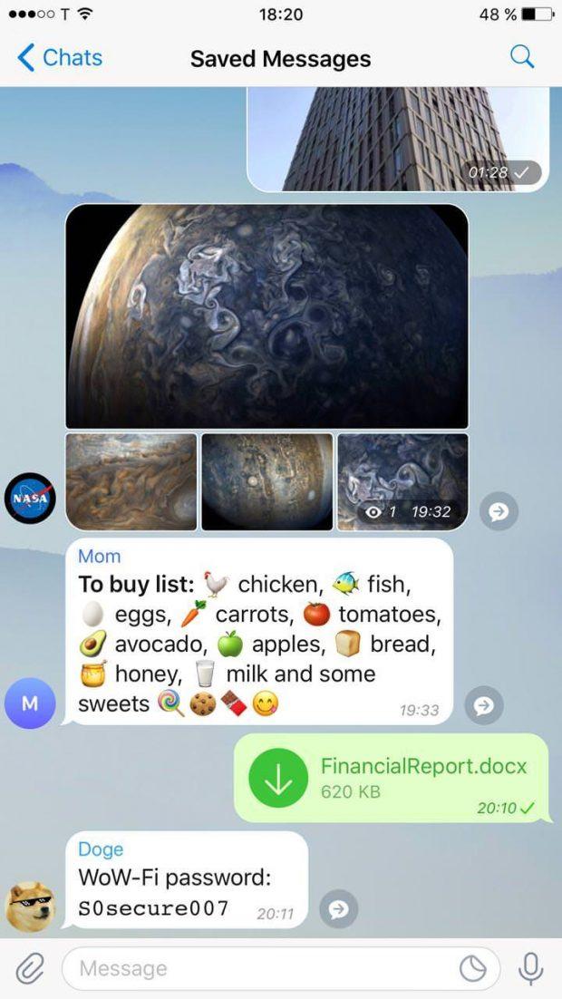تلگرام 4.5