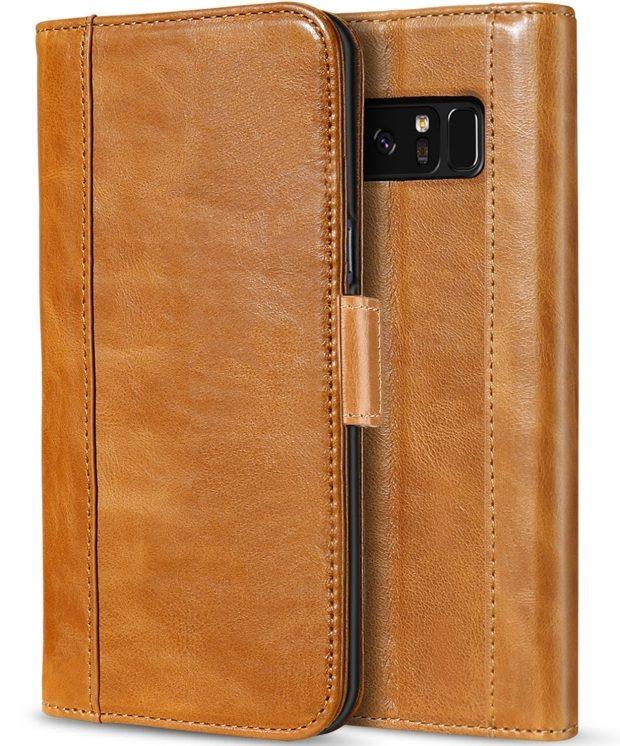 کیف چرمی برای گلکسی نوت 8