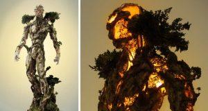ترکیب طبیعت و تکنولوژی در خلق مجسمهای شگفتانگیز