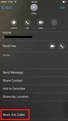 مسدود کردن شماره تماس ها در آیفون