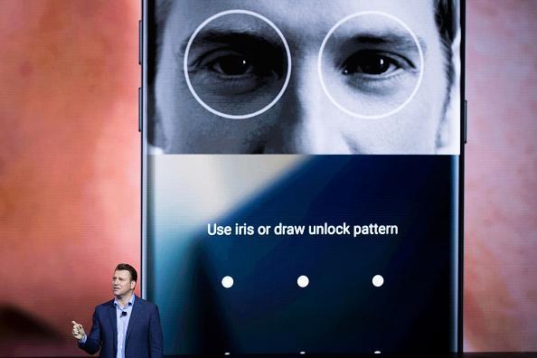 اسکنر عنبیه چشم گلکسی S9