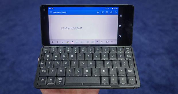 لپ تاپ جمینی (Gemini) معرفی شد؛ لپ تاپ کوچک اندرویدی با کیبورد فیزیکی