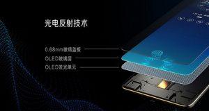 اسکنر اثر انگشت زیر نمایشگر گوشی Vivo