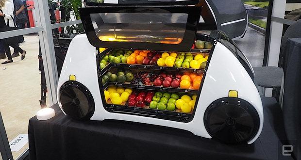 ماشین خودکار روبومارت محصولات کشاورزی تازه را به در خانهها میبرد