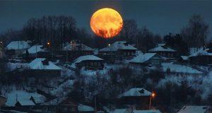 تصاویری زیبا از ماه گرفتگی امشب