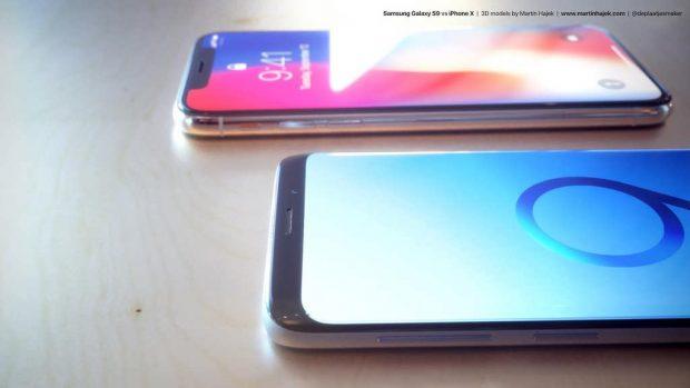 مقایسه آیفون X و گلکسی S9