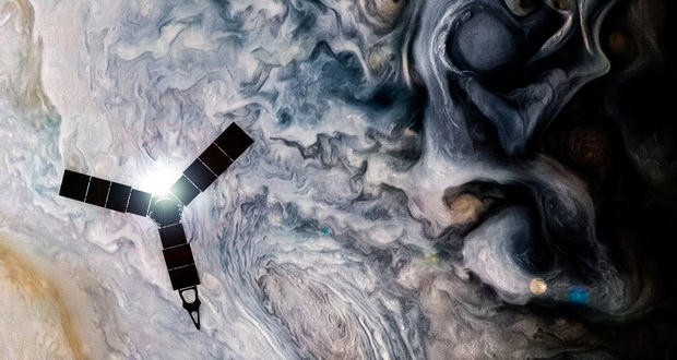 فضاپیمای 1 میلیارد دلاری ناسا تازهترین عکس های سیاره مشتری را به زمین فرستاد