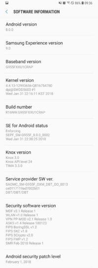 آپدیت اندروید اوریو 8.0 برای گلکسی اس 8