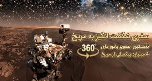 عکس پانورامای 360 درجه مریخ