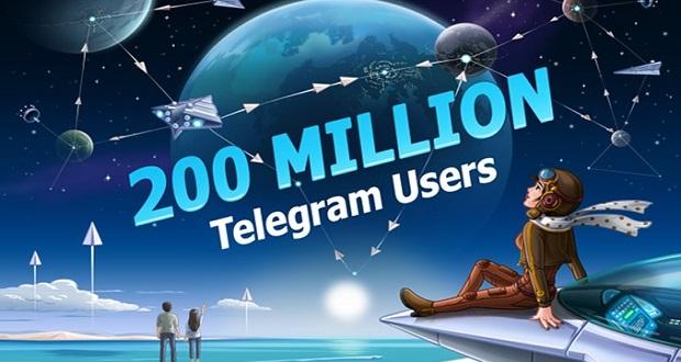 تعداد کاربران فعال تلگرام