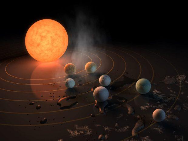 سیاره های سامانه تراپیست 1 بیش از حد لازم آب دارند!