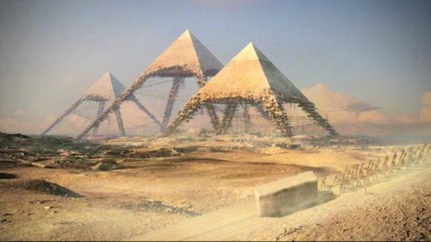 آیا میدانستید که میتوان با سنگ های هرم بزرگ جیزه دیواری به دور زمین کشید؟!
