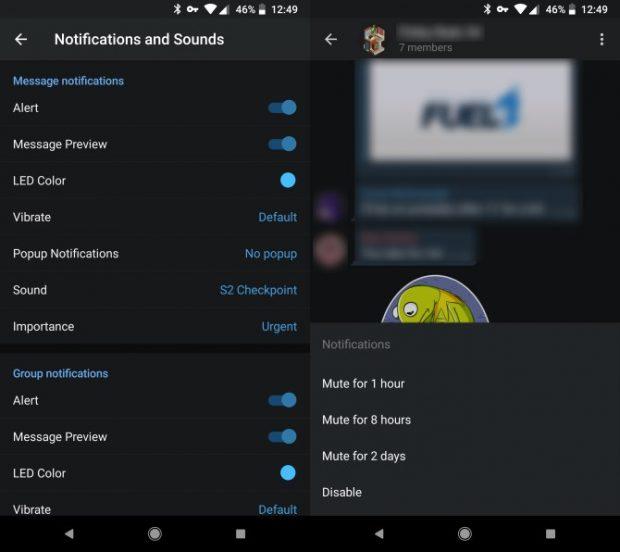 آموزش بی صدا کردن نوتیفیکیشن های تلگرام و واتس اپ
