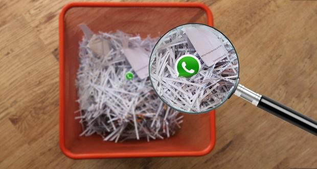 عکس های پاک شده در واتس اپ